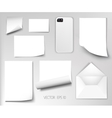 sheets of paper wrapped template design