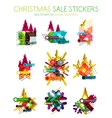 Shiny holiday New Year and Christmas sale banners vector image vector image