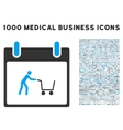 Shopping Cart Calendar Day Icon With 1000 Medical vector image vector image