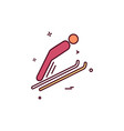 skiing icon design vector image