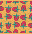 strawberry drawing pattern red juicy berry vector image vector image