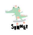 summer crocodile vector image vector image