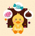 sweet candy card vector image