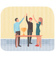 teamwork that leads company to success in business vector image vector image