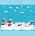 text books in the sky vector image vector image