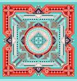 tribal art bandana print ethnic geometric print vector image vector image