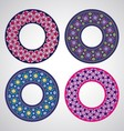 Ukrainian embroidered round motifs vector image vector image