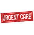 urgent care grunge rubber stamp vector image vector image