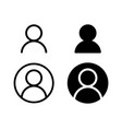 user profile icon sign vector image vector image