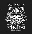 viking head in horned helmet valhalla asgard vector image vector image