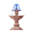 vintage marble fountain urban infrastructure vector image