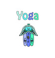 world yoga day hamsa doodle hand draw vector image vector image