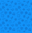 writer blue seamless pattern or background vector image