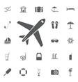 plane icon solid pictogram vector image