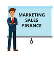 businessman with marketing finance sales vector image