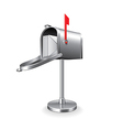 mail box isolated vector image