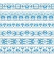 Antique borders in blue color on the white vector image