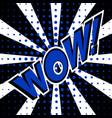 wow comic speech bubble cartoon vector image