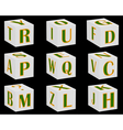 English letters vector image