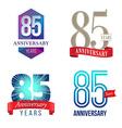 85 Years Anniversary Symbol vector image vector image