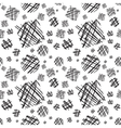 Abstract pattern with hand-drawn lines vector image vector image