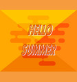 abstract yellow background with hello summer vector image vector image