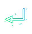 arrow left sign traffic icon design vector image vector image