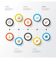 audio flat icons set collection of audio vector image