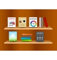 Bookshelf background vector image