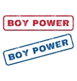 Boy Power Rubber Stamps vector image vector image