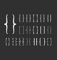 braces set curly decorative frames calligraphic vector image vector image