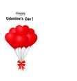 bunch of red heart shaped balloons wrapped with vector image vector image