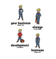 businessman logo set vector image