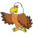 cartoon eagle vector image