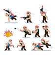 characters wars game flat icon man cartoon vector image