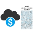Cloud Banking Icon with 1000 Medical Business vector image vector image