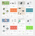 collection flat website templates for business vector image vector image