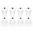 collection polo shirts vector image