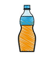 color crayon stripe cartoon plastic bottle with vector image vector image