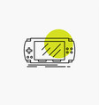 console device game gaming psp line icon vector image vector image