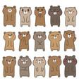 cute bear character design set vector image vector image
