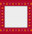 cute christmas or new year square border frame vector image