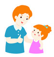 dad admire daughter character cartoon vector image vector image