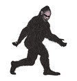 detailed hairy bigfoot vector image