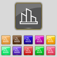 Diagram icon sign Set with eleven colored buttons vector image vector image