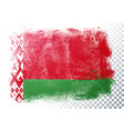 distressed belarus flag in grunge style vector image vector image