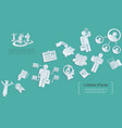 flat business icons collection vector image