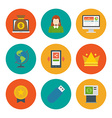 Flat design icons symbols for website and vector image
