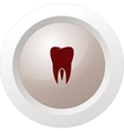 Flat paper cut style icon of tooth Dentistry vector image vector image