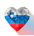 Flat style logo symbol of love Slovenia vector image vector image